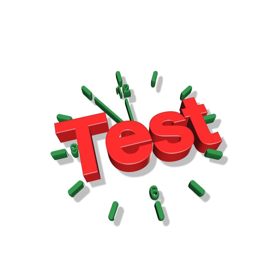 test d'anglais